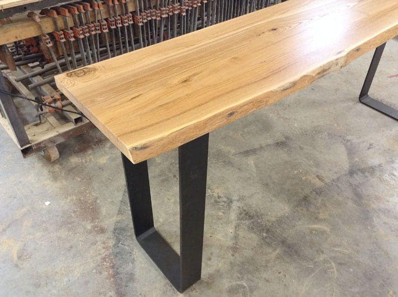 Wood anchor reclaimed ash sofa table about this sofa table watchthetrailerfo