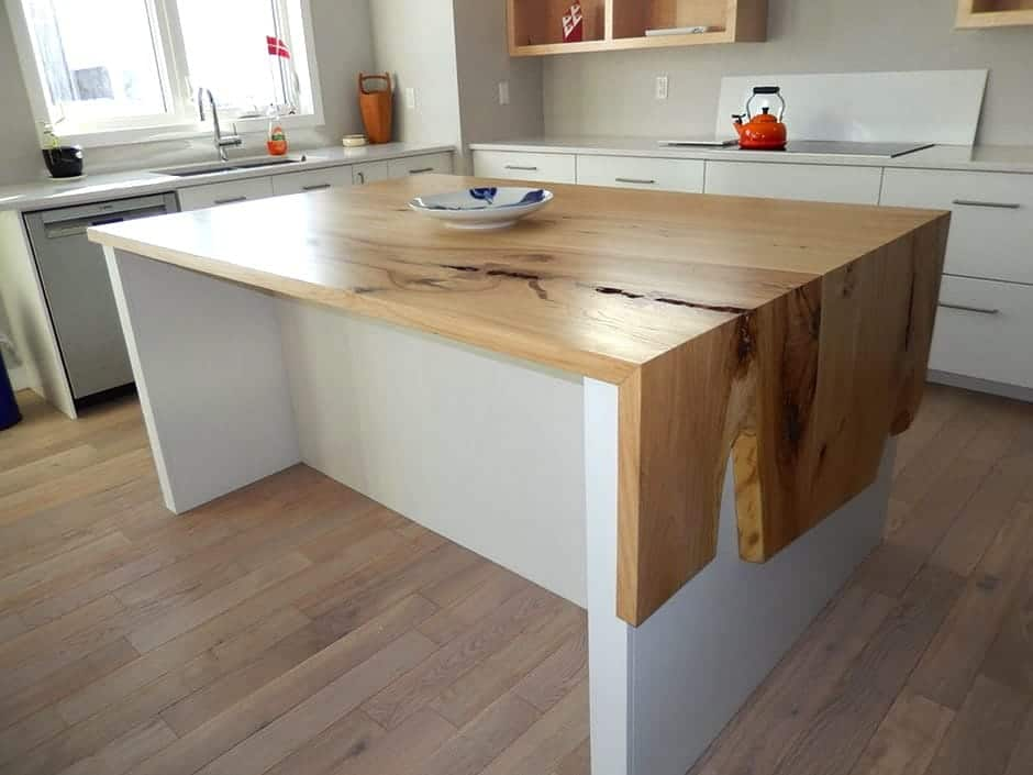 Wood Anchor Rempel S Elm Waterfall Countertop