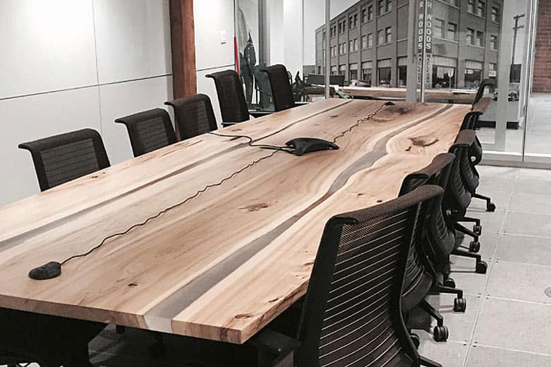 WOOD ANCHOR Wood Anchor Portfolio : custom elm boardroom table from woodanchor.com size 781 x 521 jpeg 53kB
